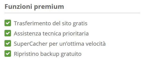 funzioni premium