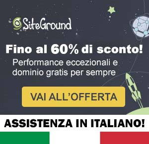 siteground hosting italiano sconto 60%