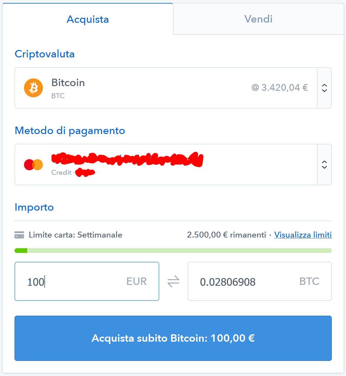 comprare bitcoin bonus coinbase
